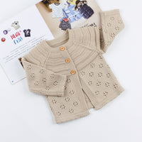 Baby Girls Sweater Cardigan Boy Hooded Jackets Cartoon Long Sleeve Coats - ccbabe