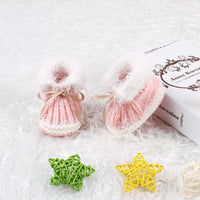 Handmade Newborn Baby Boy Girl Knitted First Walkers Booties Soft Shoes - ccbabe