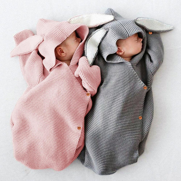3-7 Days Delivery Newborn Baby Knit Sleeping Bags Bunny Easter Gift Wearable Swaddle Sleep Sack - ccbabe