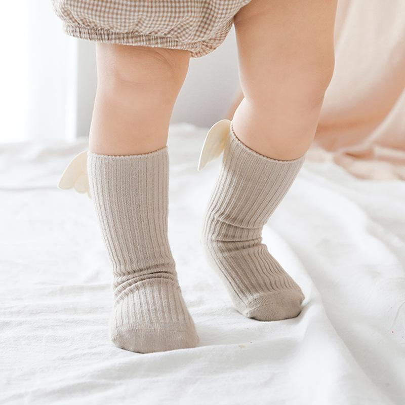 Children's Socks Combed Cotton Baby High Socks Wings Accessories Girls Socks - ccbabe