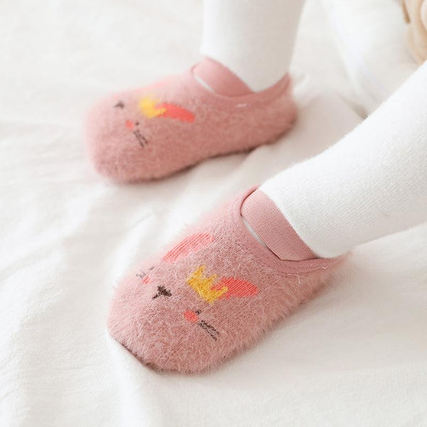 Children's Socks Velvet Yarn Non-slip Baby Toddler Floor Socks - ccbabe