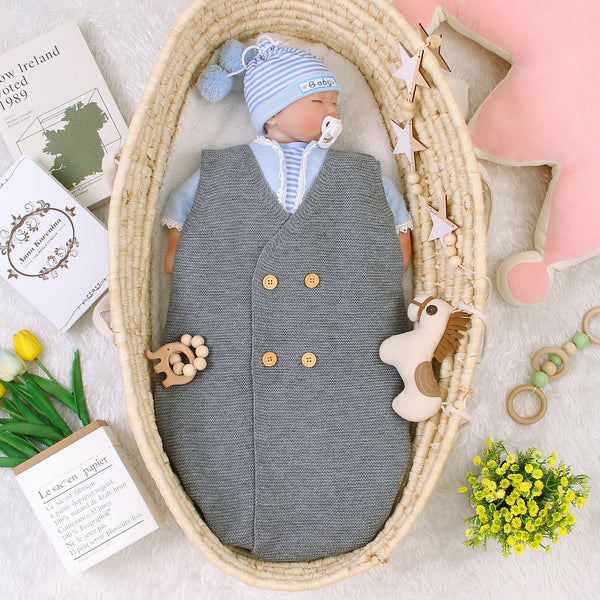 3-7 Days Delivery Newborn Baby Knit Sleeping Bag Sleep Sack for Boys and Girls - ccbabe