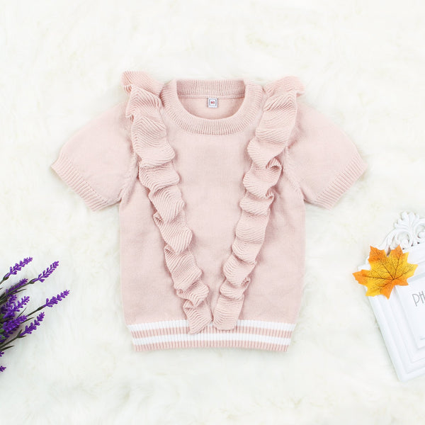 Baby Girl Sweatshirt Long Sleeve Pullover Knitwear Clothes - ccbabe