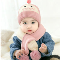 thickened ear protection baby wool hat