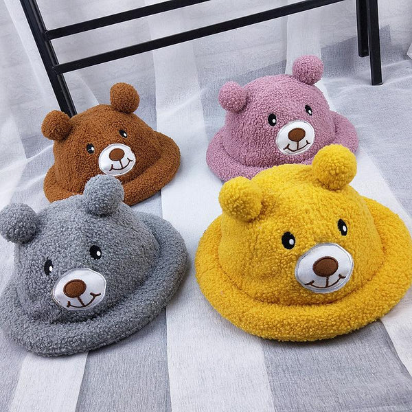 Children's 1-3 Year Old Baby Cute Fisherman's Hat Cartoon Bear Hat - ccbabe