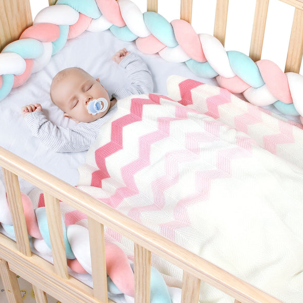 Toddler Blankets Baby Wave Knitted Blankets for Boys and Girls - ccbabe