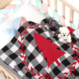 Baby Blanket Knit Cotton Toddler Blankets for Boys and Girls Swaddle Stroller Receiving Blankets Christmas Style - ccbabe