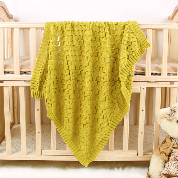 Toddler Blankets Knitted Cellular Baby Blankets for Boys and Girls - ccbabe