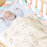 Baby Blankets Knitted Double Layer Soft Cellular Pram Blankets - ccbabe