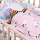 Baby Blankets Knitted Double Layer Soft Cellular Pram Blankets,Sheep Patterns - ccbabe