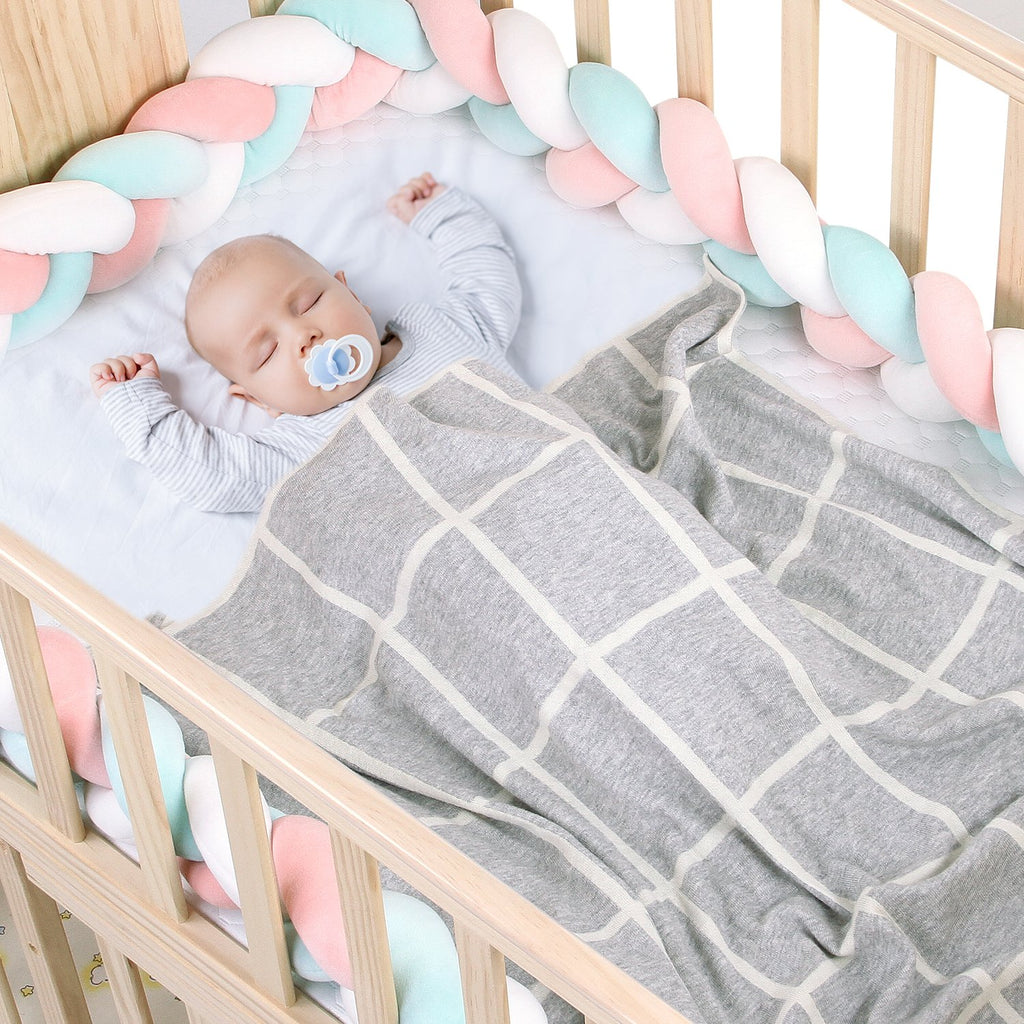 Knitted Baby Blanket Toddler Bed Crib or Stroller for Boy and Girls - ccbabe