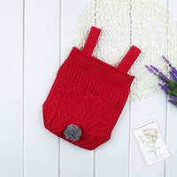Baby Romper Girls Knitted One Piece Jumpsuit Bodysuit Cute Strap Sleeveless Outfits