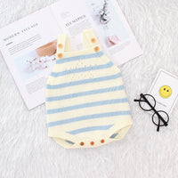 Baby Knit Romper Toddler Sleevless Solid Color Jumpsuit Clothes - ccbabe