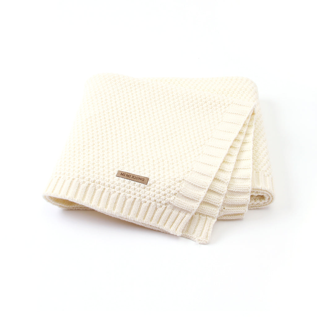 Baby Blanket Knit Toddler Blankets for Boys and Girls Mustard - ccbabe