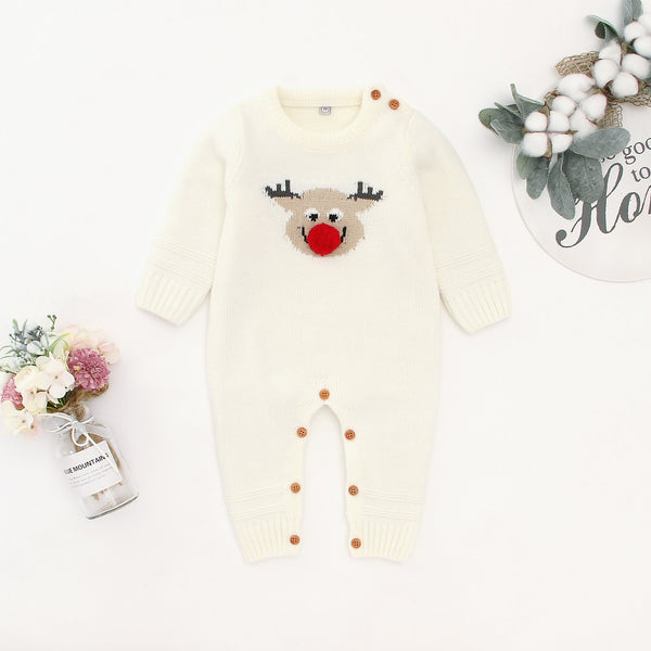 Baby Sweater Romper Toddler Jumpsuit Knitted One Piece Outfits - ccbabe