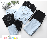 Parent-Child Pajamas Long-sleeved Cotton Homewear Family Suit