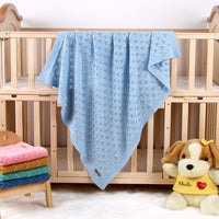 Baby Blankets Knit Breathable Toddler Bed/Crib Blanket for Boys and Girls Teal