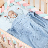 Baby Blankets Knit Lightweight Warm Toddler Bed/Crib Blanket for Boys and Girls