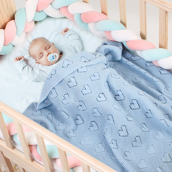 Baby Blankets Knit Lightweight Warm Toddler Bed/Crib Blanket for Boys and Girls - ccbabe
