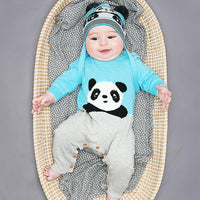 Baby Cotton Romper Toddler Jumpsuits Kids Panda Pattern Outfits - ccbabe