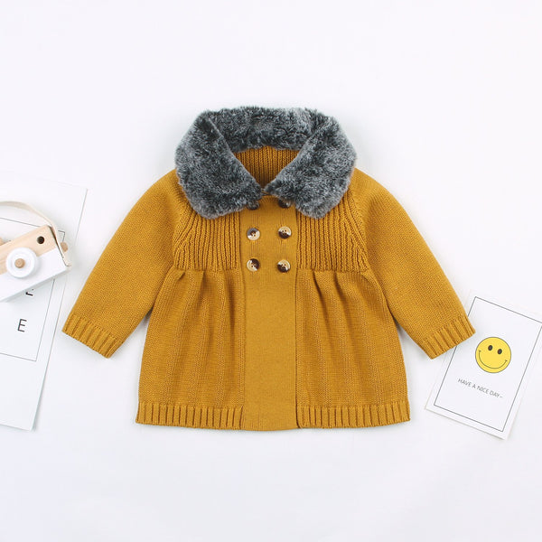 Baby Girl's Cardigan Sweater Cartoon Hoodies Long Sleeve Coats - ccbabe