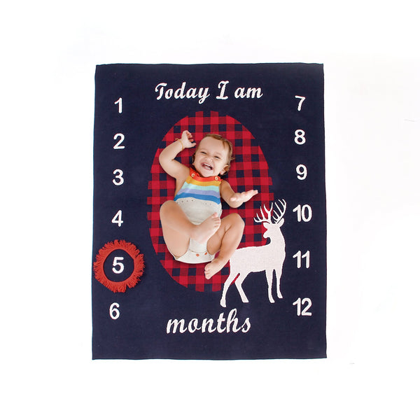 Ins Hot Sale Baby Milestone Blanket Knit Photo Blanket - ccbabe