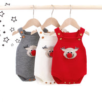 Baby Romper Toddler Knitted Sweater Jumpsuits Sleeveless Outfits Clothes - ccbabe
