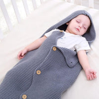 Newborn Baby Wrap Swaddle Blanket Knit Sleeping Bag Sleep Sack Stroller Wrap for Baby - ccbabe