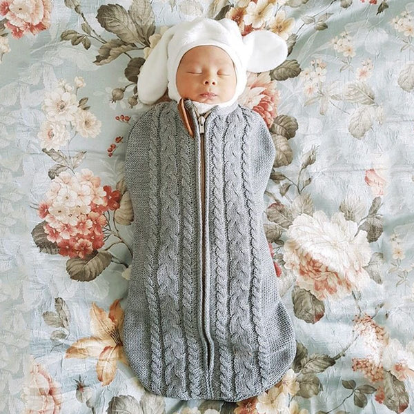 3-7 Days Delivery Newborn Baby Swaddling Blanket Newborn Knitted Sleeping Sack 0-3months - ccbabe