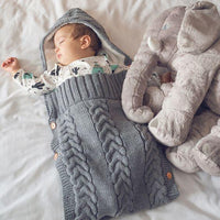 Newborn Baby Wrap Swaddle Blanket Kids Sleeping Bag Sleep Sack Stroller Wrap Sleep Sacks Button 0-6 Months - ccbabe