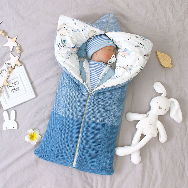 3-7 Days Delivery Newborn Baby Swaddle Blanket Knit Sleeping Bag for Boys and Girls - ccbabe