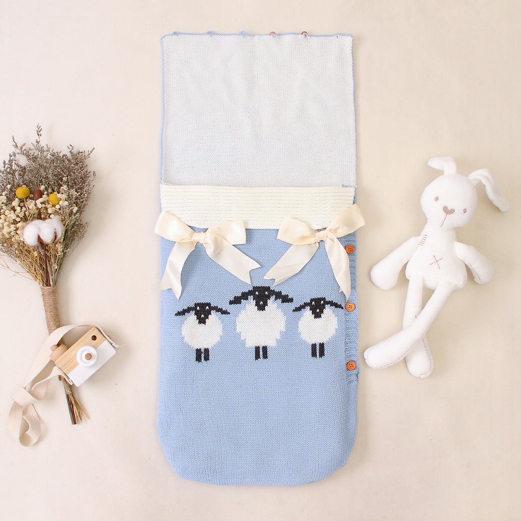3-7 Days Delivery Newborn Baby Wrap Swaddle Blanket,Knit Sleeping Bag Sleep Sack for 0-3 Months Baby - ccbabe