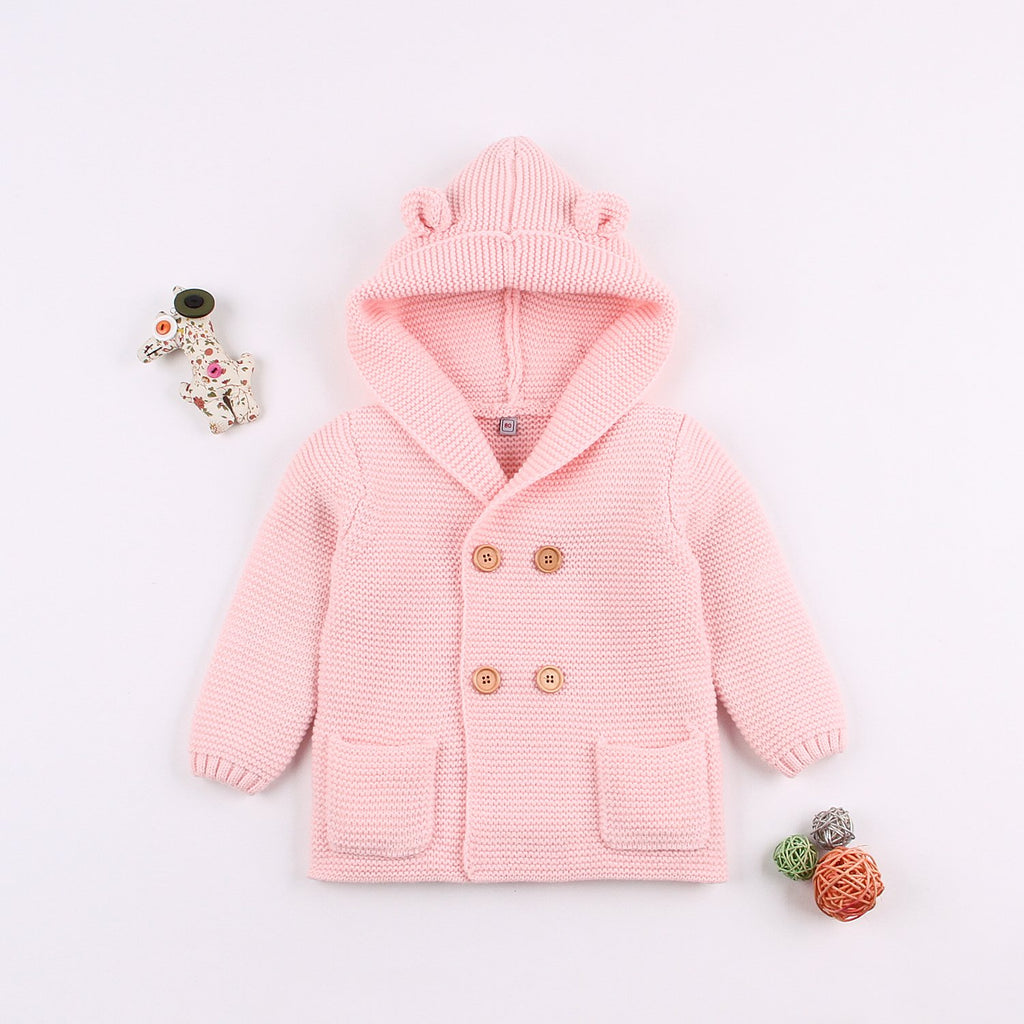 Baby Sweater Romper Layette Knit Long Sleeve Jumpsuits Hooded Jackets Coats - ccbabe