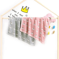 Baby Blankets Knitted Double Layer Soft Cellular Pram Blankets,Rabbit Patterns - ccbabe