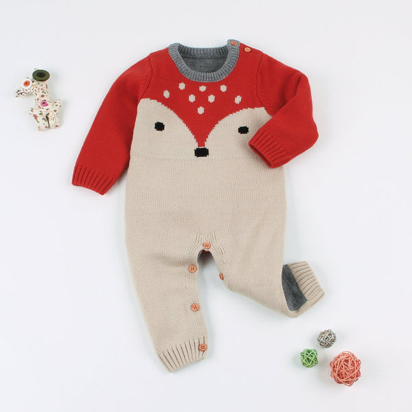 Baby Sweater Romper Knitted Long Sleeve One Piece Jumpsuits Clothes - ccbabe