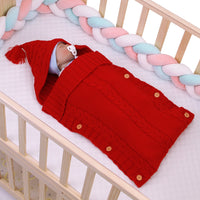 Newborn Baby Wrap Swaddle Blanket Kids Toddler Wool Knit Swaddle Kids Sleeping Bag - ccbabe