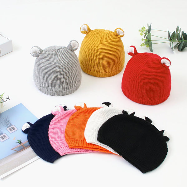 Baby Knit Hat Toddler Crown Colorful Kids Winter Cap - ccbabe