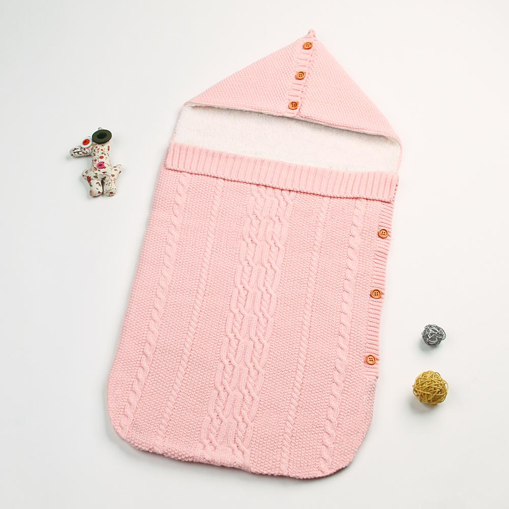 New Style Baby Sleeping Bag Cotton Swaddle Wrap Blanket Hooded Tassels Sleep Sack - ccbabe