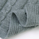 Baby Blanket Toddler Knitted Blankets Cable Throw Blanket for Boys and Girls - ccbabe