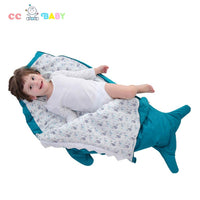 New style Pure cotton baby shark baby sleeping bag for 0-48 months baby