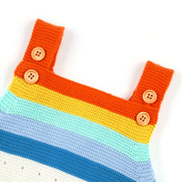 Baby Romper Toddler Knit Jumpsuit Rainbow Sleeveless Sunsuit - ccbabe