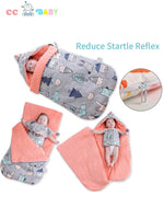 Autumn/Winter Pure Cotton Warm Soft Blanket Sleeping bag for Newborn Baby