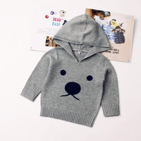 Baby Sweater Knitted Hoodie Toddler Bear Pattern Long Sleeve Clothes - ccbabe
