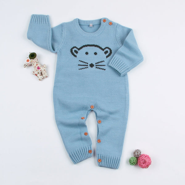 Baby Romper Jumpsuit Toddler Sweater Knitted One Piece Outfits - ccbabe