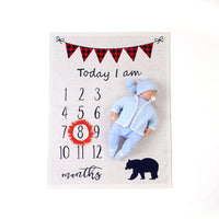 Ins Hot Sale Baby Milestone Blanket Children Photo Blanket - ccbabe
