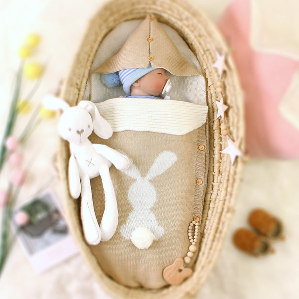 3-7 Days Delivery Newborn Receiving Blanket Adjustable Infant Baby Knit Sleeping Bag - ccbabe