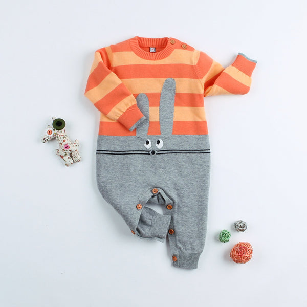 Baby Knitted Romper Toddler Sweater Outfit Totoro Pattern 100% Pure Cotton - ccbabe