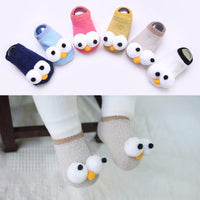 Big Eyes Baby Socks Cute Children's Boat Socks Indoor Toddler Floor Socks