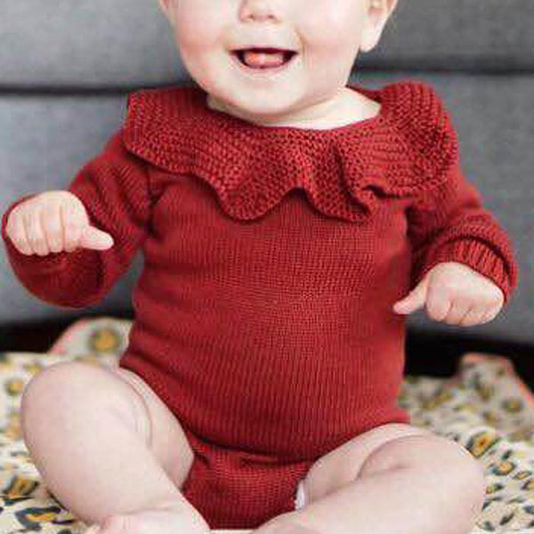 Baby Girl Romper Toddler Knit Jumpsuit Sweater - ccbabe