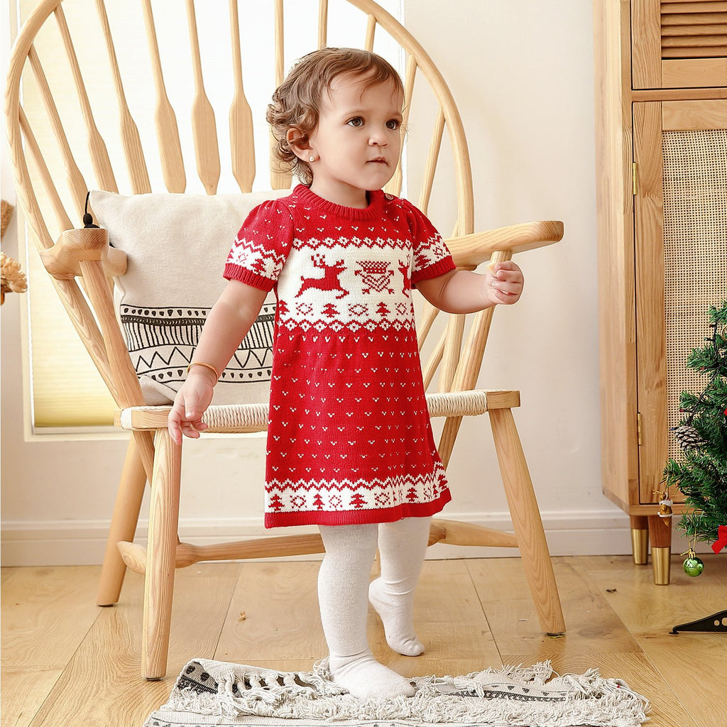 Ins Autumn Baby Girl Christmas  Sweater Dresses - ccbabe